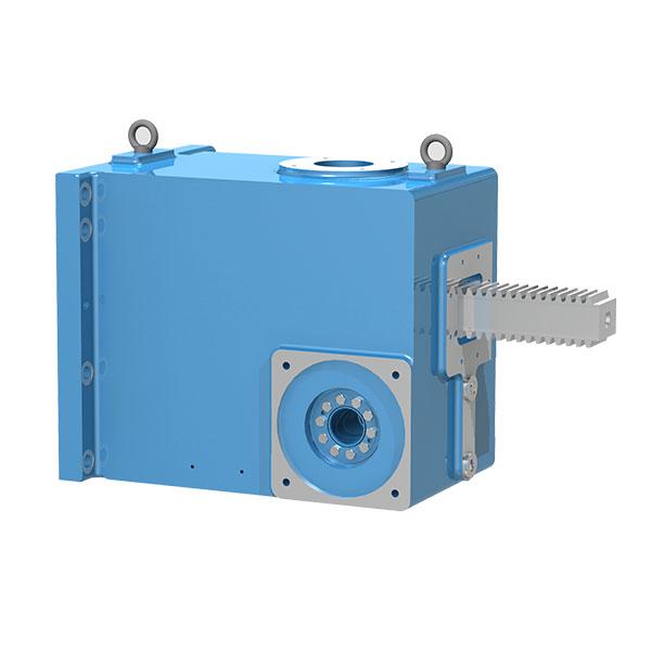 Zahnstangengetriebe für Spritzgießmaschinen